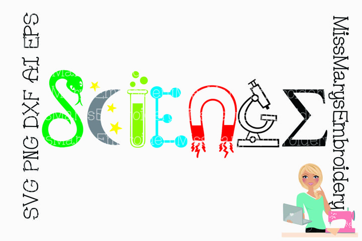 Science Symbols Cut File SVG PNG DXF AI EPS