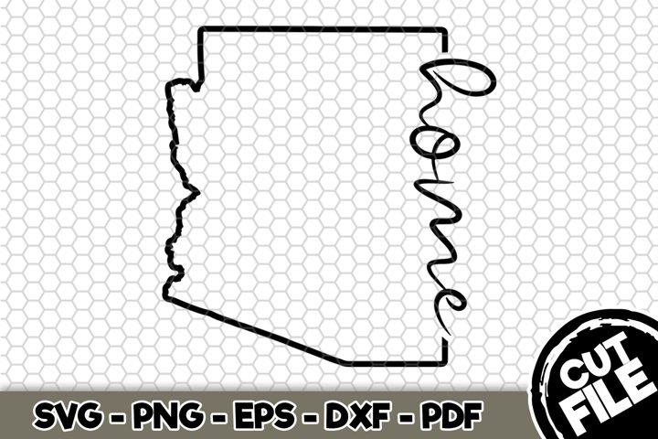 Arizona Home Border - Arizona State - SVG Cut File n345