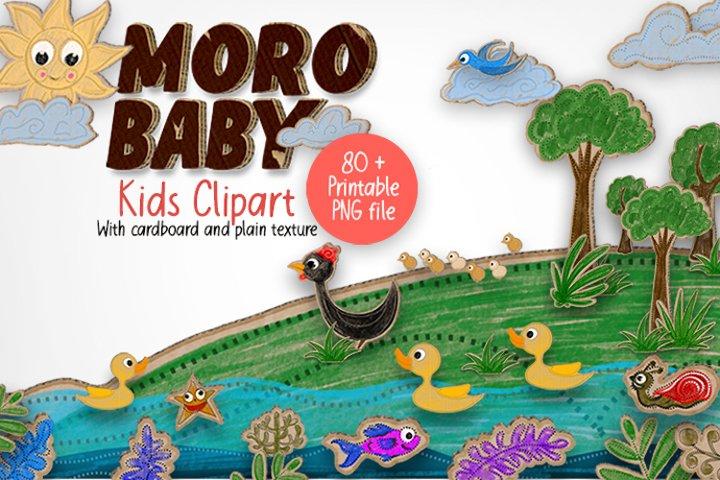 Moro Baby Kids Graphics Clipart