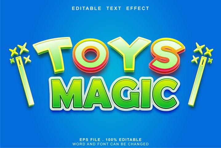 editable text effect toys magic template