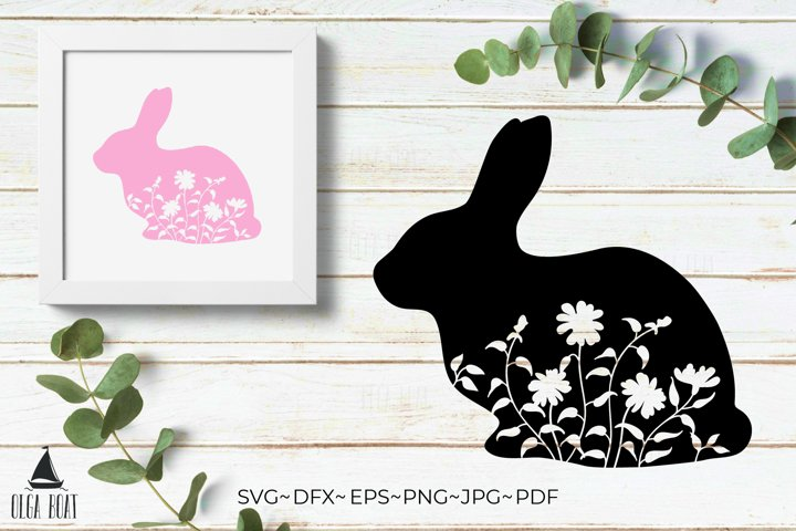 Rabbit silhouette Easter Bunny svg Rabbit svg Easter animal