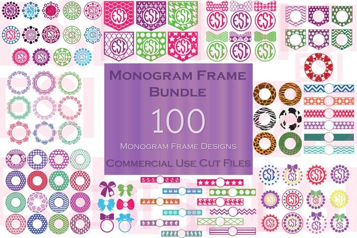Monogram Frame Bundle - 100 Frames for Monogramming.