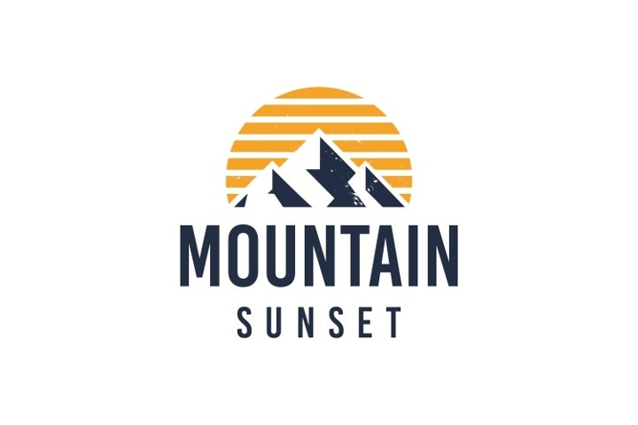 Rustic Mountain Logo Template