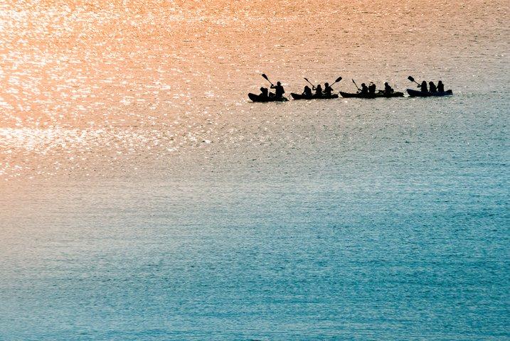 4 Sea canoeists at dawn