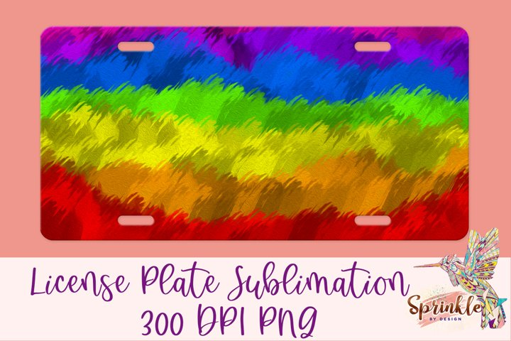 Paint Strokes License Plate Sublimation