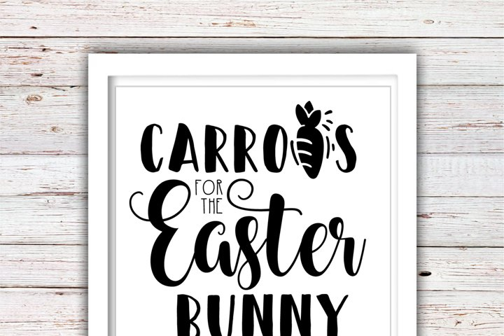 Carrots for the Easter Bunny | Easter Svg Files | High Quality Svg Eps Dxf Png Files | Cricut Files Silhouette Cameo |Instant Download