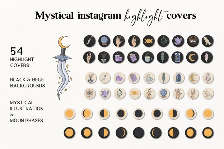 Instagram Story Highlight Icons , Mystical Covers