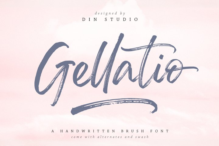 Gellatio - Chic Brush Font