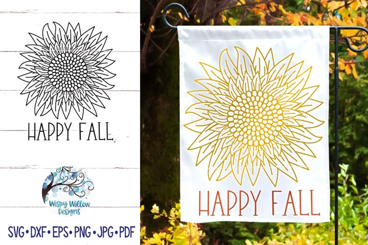 Happy Fall Sunflower SVG | Fall SVG