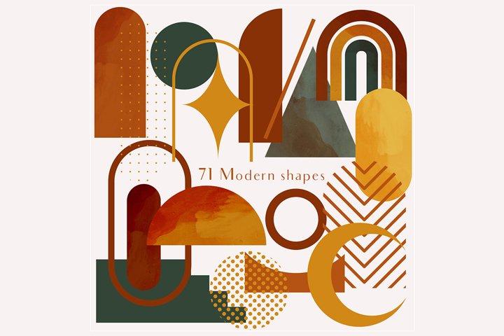 71 Modern shapes clipart illustrations