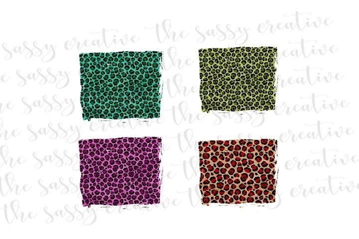 Leopard Background Splash Sublimation Design Download PNG