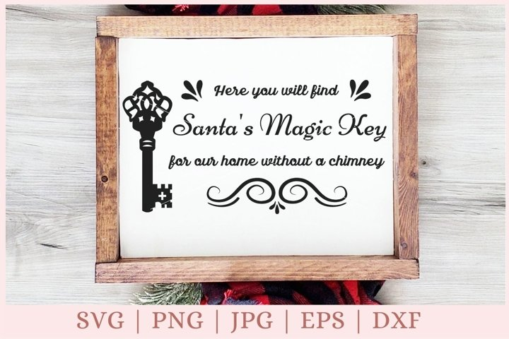 Santas magic Key svg, christmas svg, christmas sign svg
