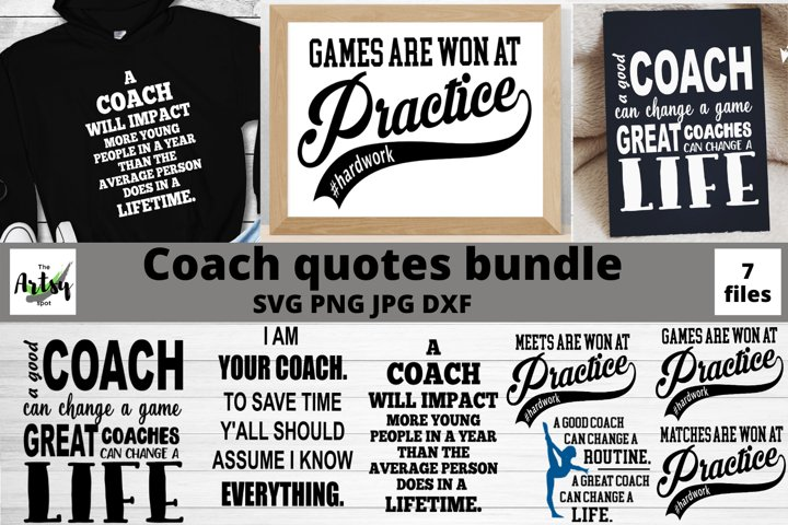 Coach quotes svg Bundle, Coach svg, Coach gifts, Gymnastics