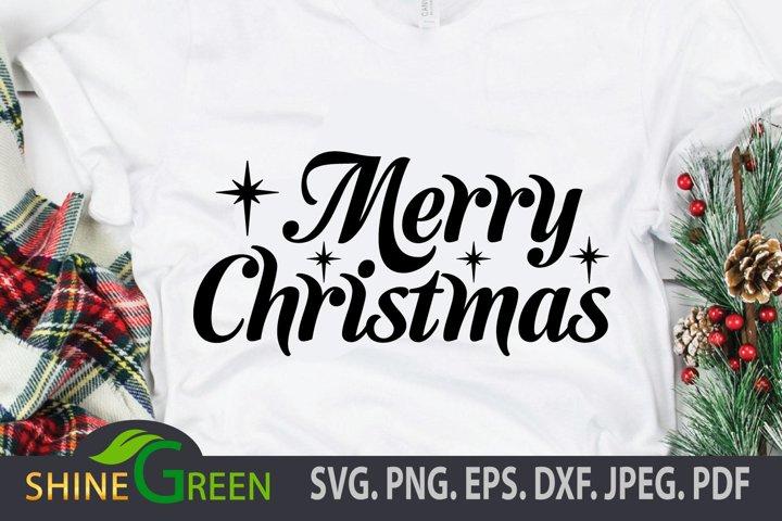 Merry Christmas SVG PNG EPS - Cricut, Sublimation