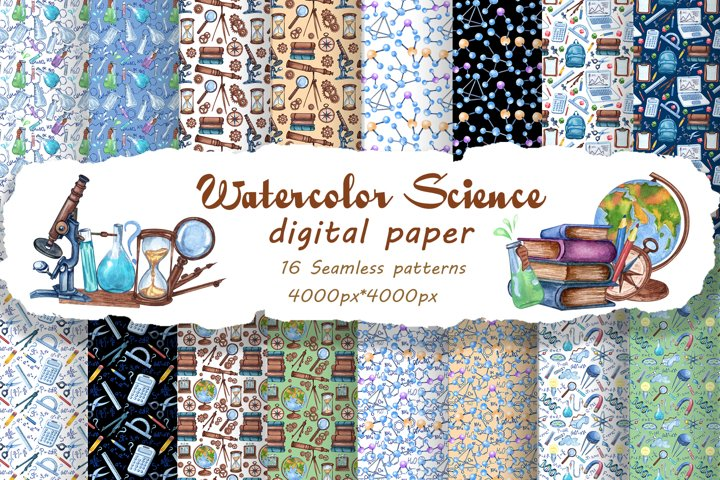 Science Seamless Patterns Pack