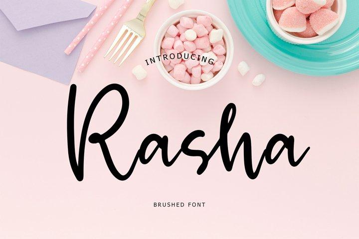 Rasha Brush Font