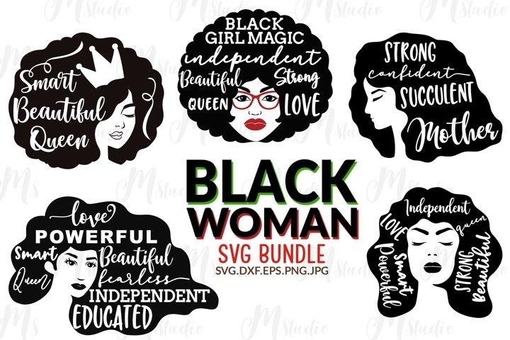 Black Woman Bundle SVG