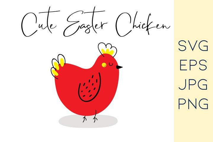 Easter chicken SVG | chick SVG | Easter SVG