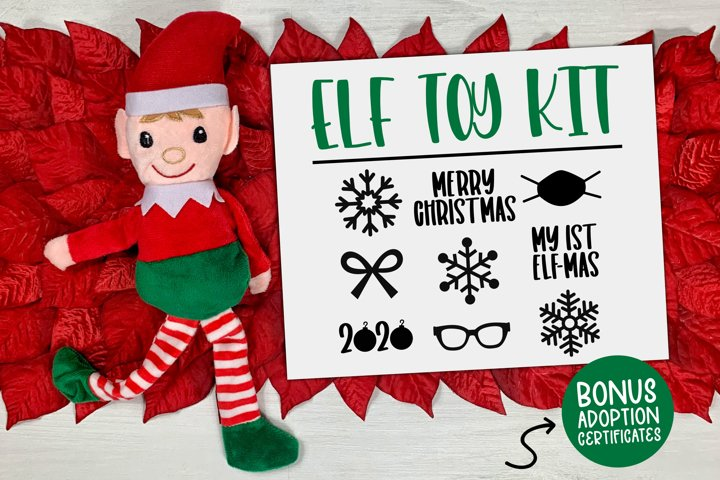 Elf Toy Kit - Elf SVG, Christmas Svg