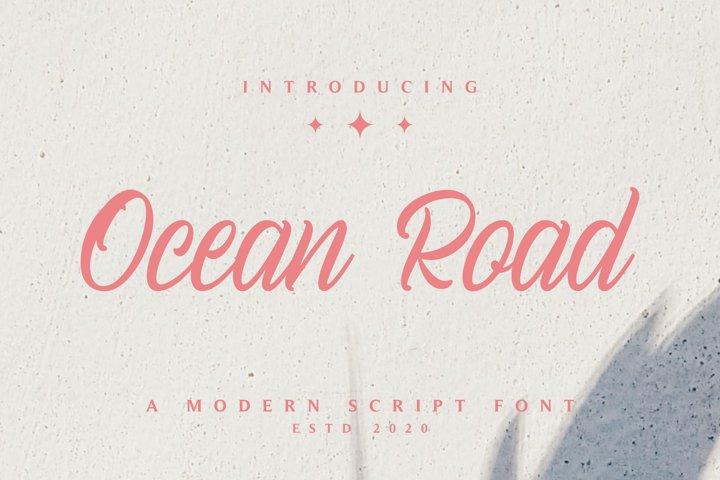 Ocean Road - A Modern Script Font