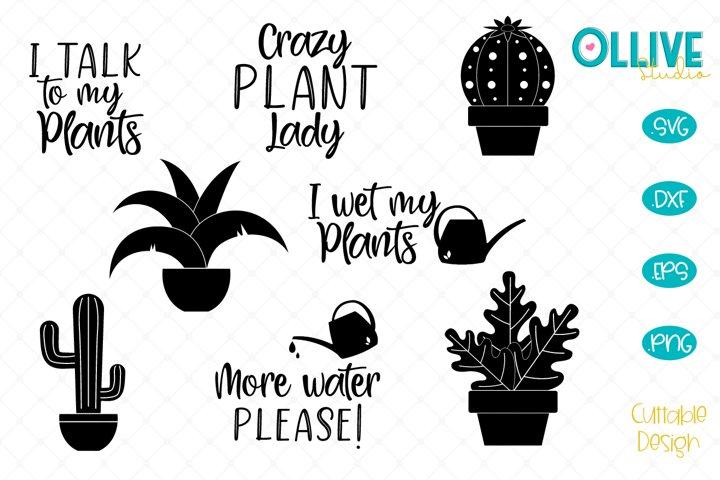 Plants SVG Bundle, Crazy Plant Lady Quotes