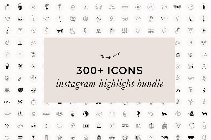 Over 300 JPG Instagram Highlight Icons | Instagram Bundle