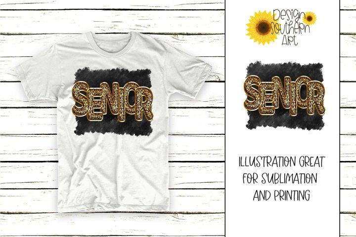 Sublimation Senior PNG Design