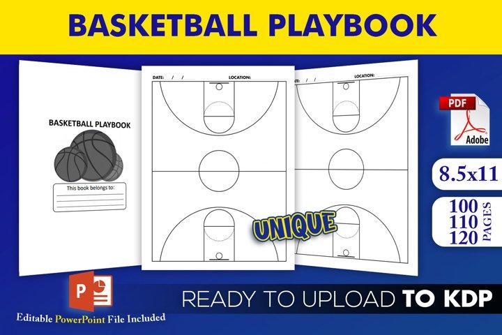 Basketball Playbook - KDP Interior Editable Powerpoint File