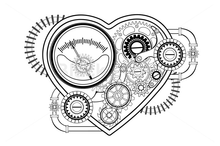 Contour Mechanical Heart Steampunk