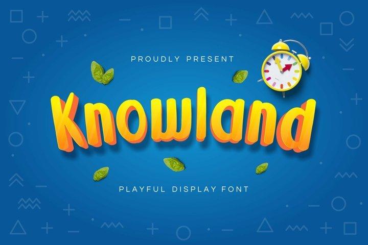 Web Font Knowland Display Font