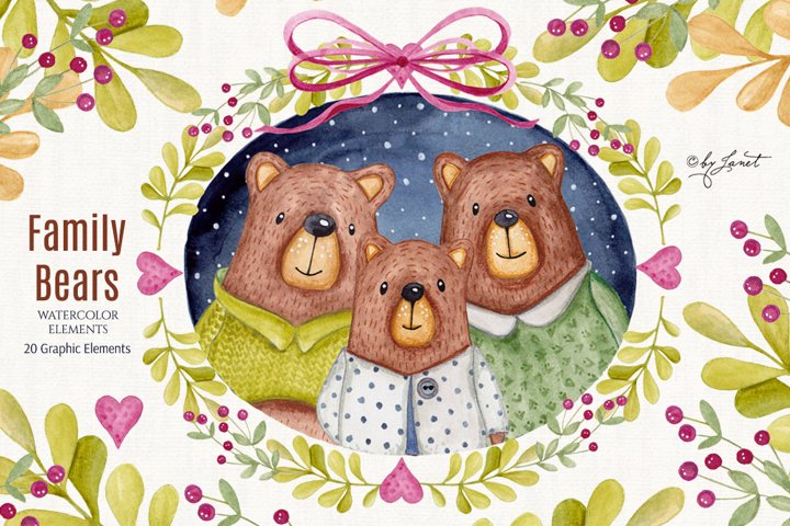 Family Bears illustration