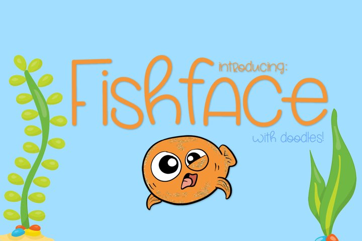 Fish Face - A Really Fun Handwritten Font - Free Font of The Week Font