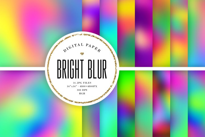 Bright Blur Backgrounds - Abstract Digital Papers