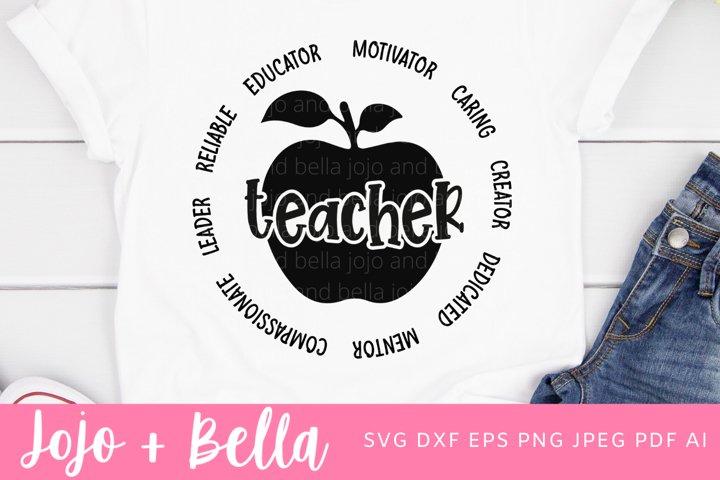 Teacher Svg | School Svg