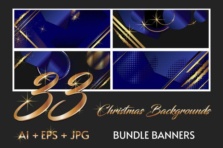 33 Christmas backgrounds bundle banners Ai Eps Jpg