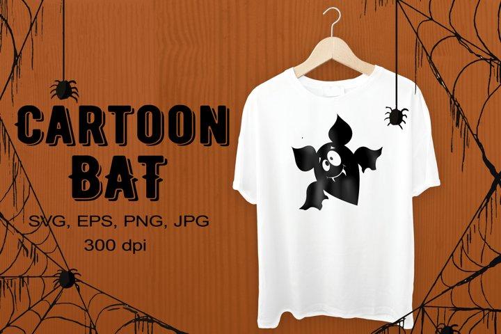 Cartoon bat SVG shape. Vector illustration
