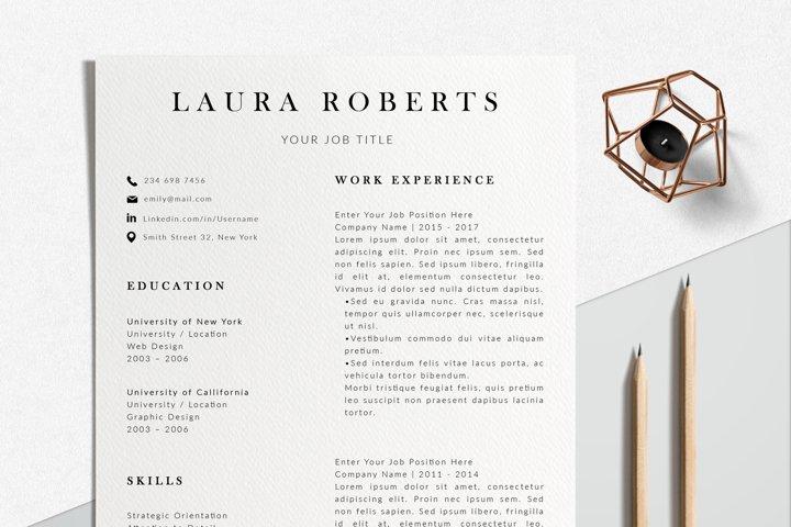 Professional Resume Design | Photoshop Resume Template