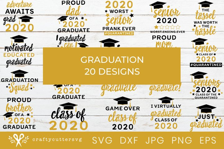 Graduation 2020 SVG Bundle | Graduate Quotes Shirt Bundle