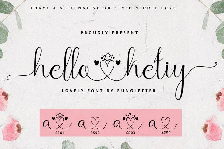 Hello Ketiy - Script Lovely