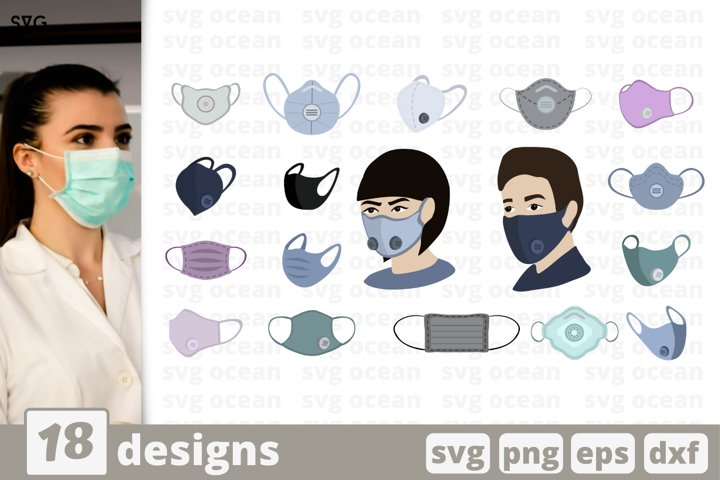 FACE MASK SVG| Raspirator svg | Surgical face mask icons