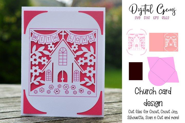 Church card! Now compatible with the Cricut Joy!!