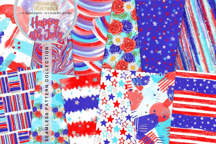 Happy 4th July - digital paper collection