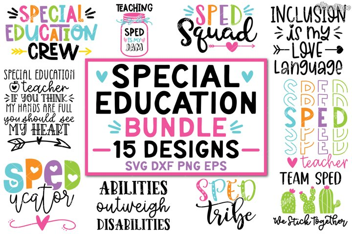 Sped SVG Bundle, Special Education Teacher SVG DXF PNG Files
