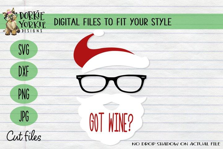 Got Wine, Hipster, Glasses, Christmas, Xmas - SVG Cut