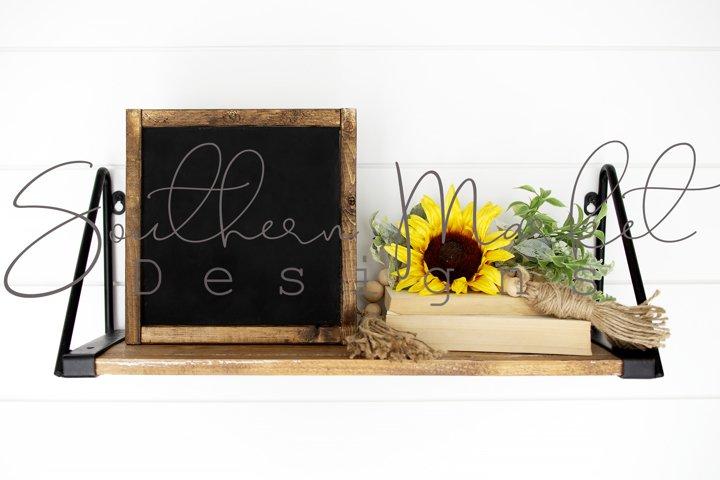 Sunflower Styled Summer Wood Framed 10x10 Sign Mock Up