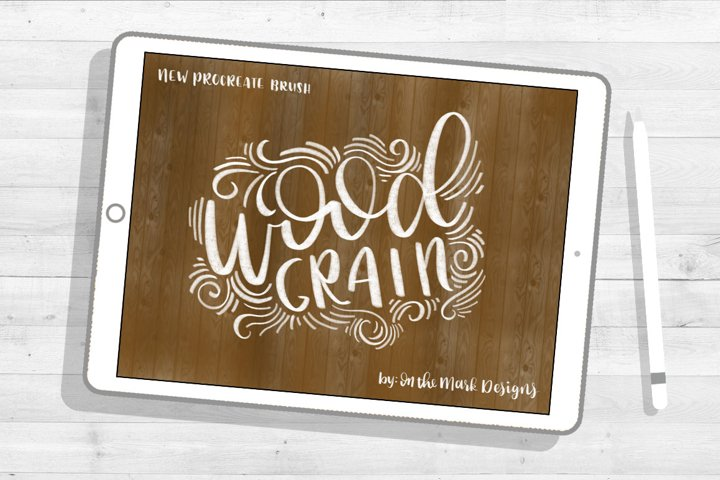 Wood Grain Lettering Procreate Brush