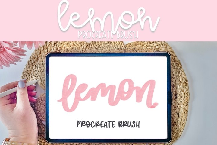 Lemon Procreate Brush | Procreate