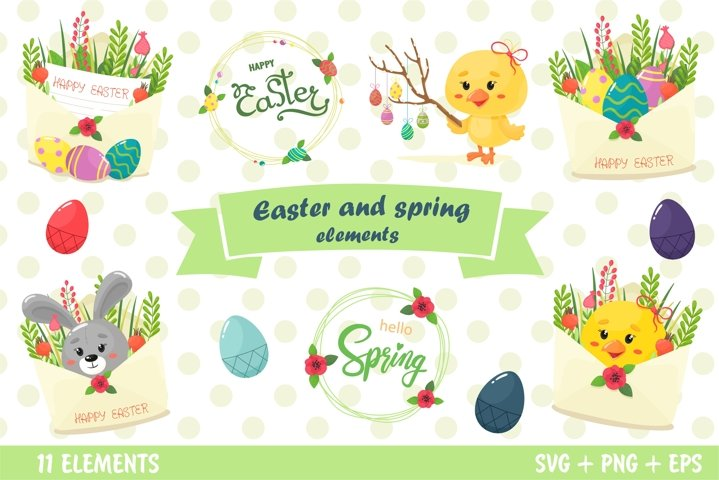 Easter and spring elements