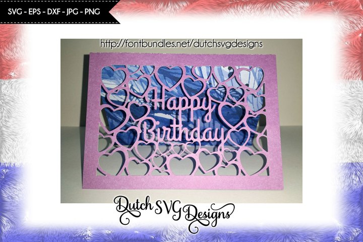 Card cutting file Happy Birthday, birthday card svg