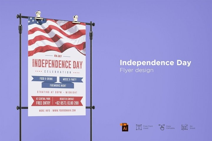 Independence day flyer design